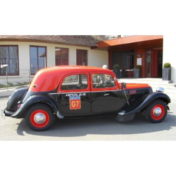 location auto retro collection citroen traction 11b 1956 taxi g7. Black Bedroom Furniture Sets. Home Design Ideas