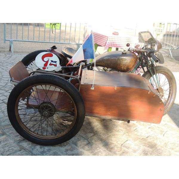 location auto retro collection side car motobecane 125cc de 1935. Black Bedroom Furniture Sets. Home Design Ideas