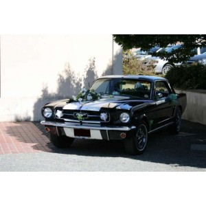location auto retro collection ford mustang coup noir 1965. Black Bedroom Furniture Sets. Home Design Ideas